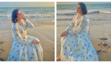 Alizeh Shah Looks Hot In Floral Dress At The Beach