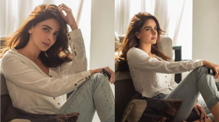 Saba Qamar Steals The Spotlight By Chilling At Home