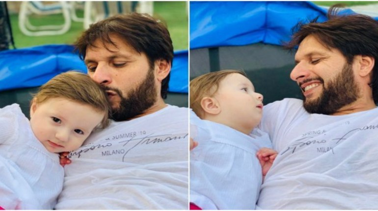 Shahid Afridi Loves Cherishing Small Moments With Doll