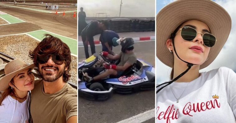 Minal Khan & Ahsan Mohsin Enjoy a Day Out On The Track