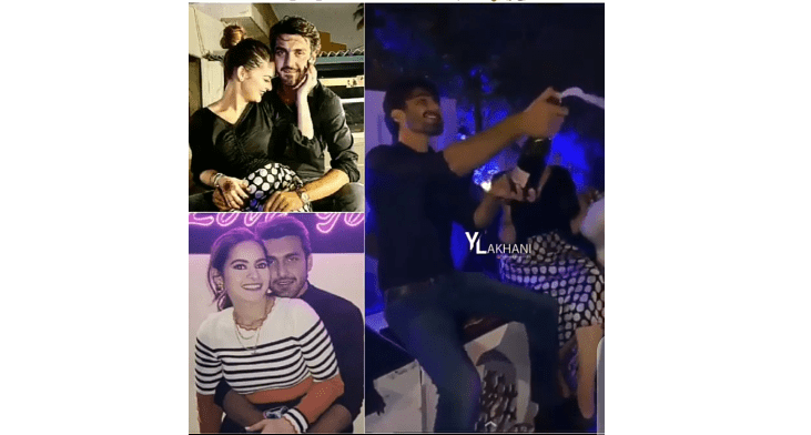Minal Khan Shake Wine With Her fiancé At Engagement Party