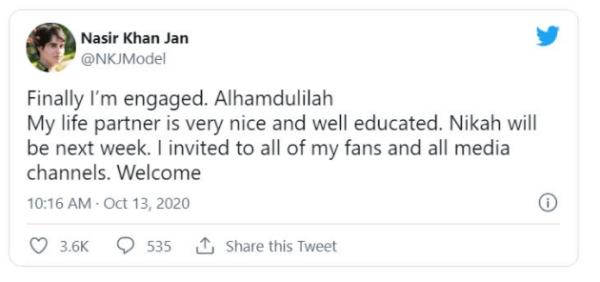 Social media star Nasir Khan Jan is now MARRIED
