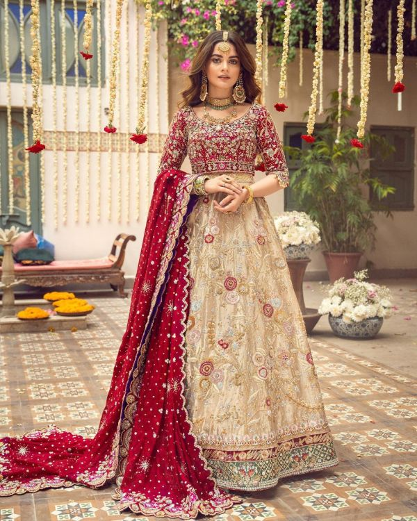 Minal Khan Is Alluring As a Modern Bride In Red