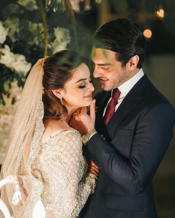 Minal Khan And Ahsan Mohsin Fairytale Reception