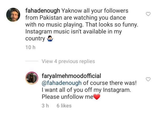 Faryal Mehmood WILD response to trolls on dance video