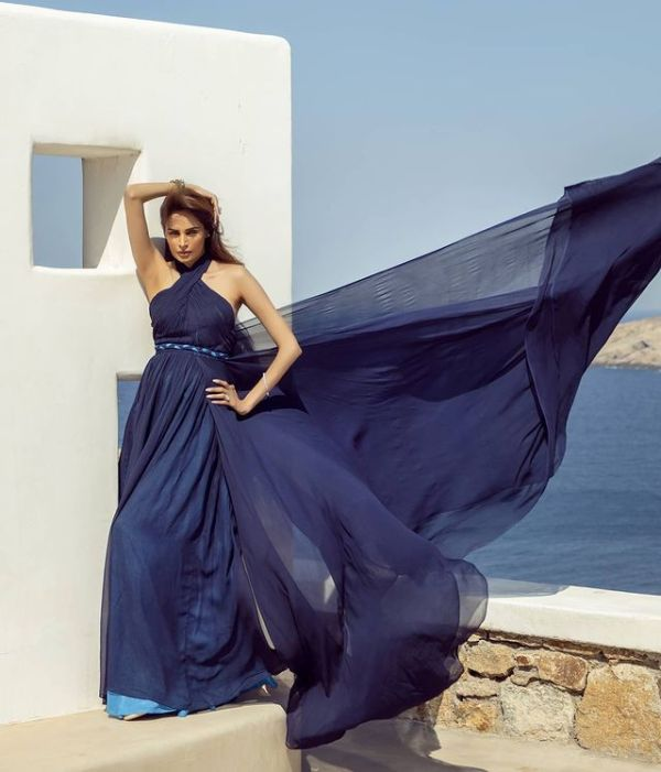 Model Mehreen Syed turns heads with An Exotic Shoot For HSY