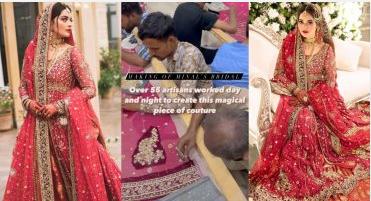 Enthralling Details About Minal Khan Wedding Dress