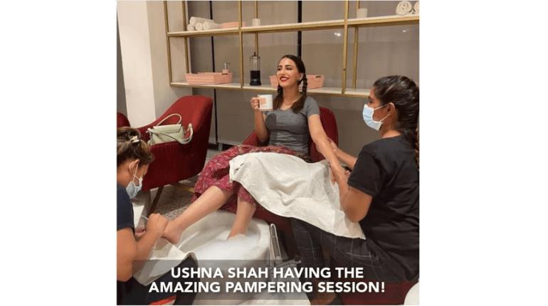 Ushna Shah Having The Amazing Pampering Session