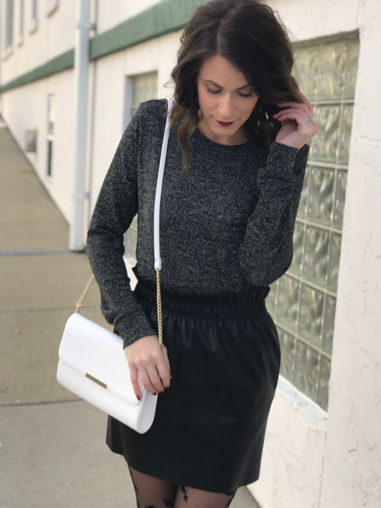 Faux Leather and Shimmer – New Years Eve Looks