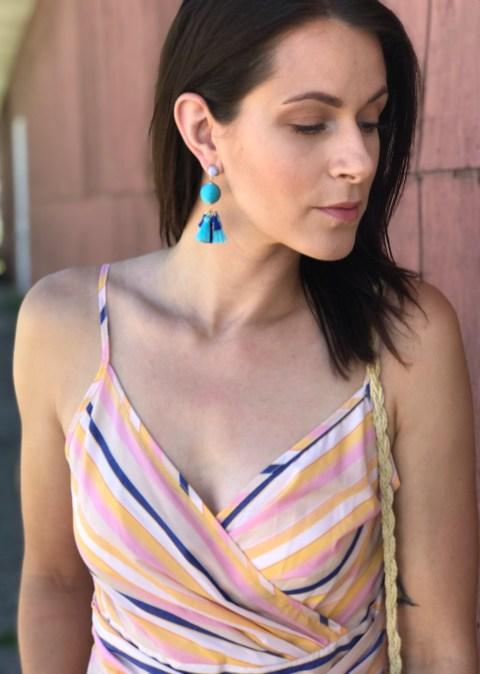 striped top earrings 1