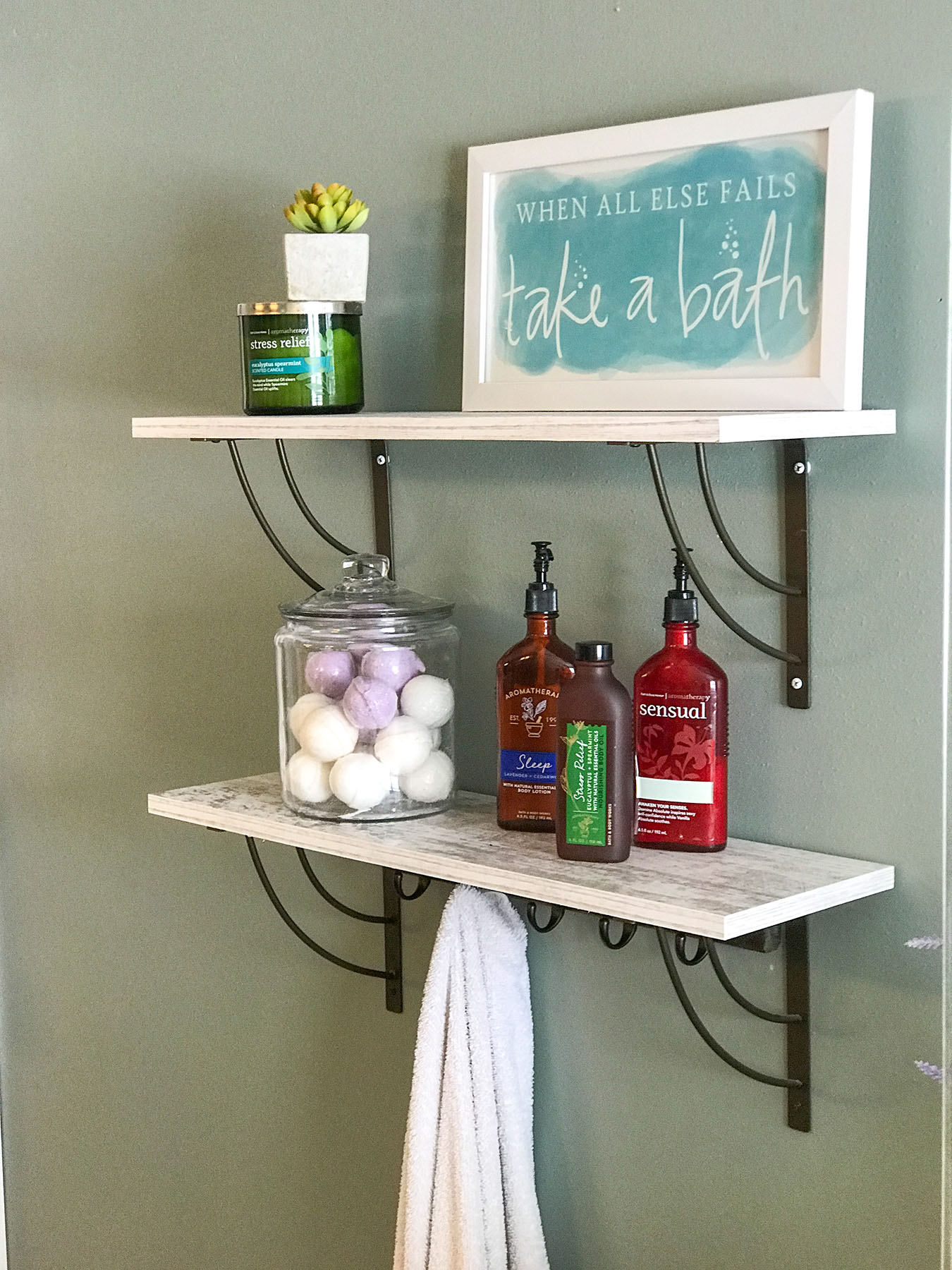Master Bath Shelving