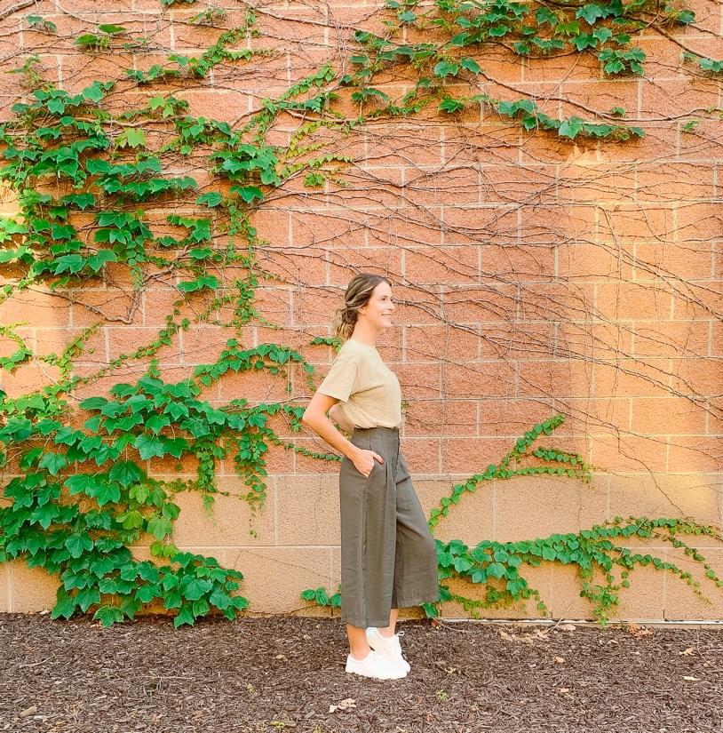 Rag Poets - Remsen Wide Leg Cropped Pants @ $89 Project Social T - Kali Striped Pocket Tee @ $44