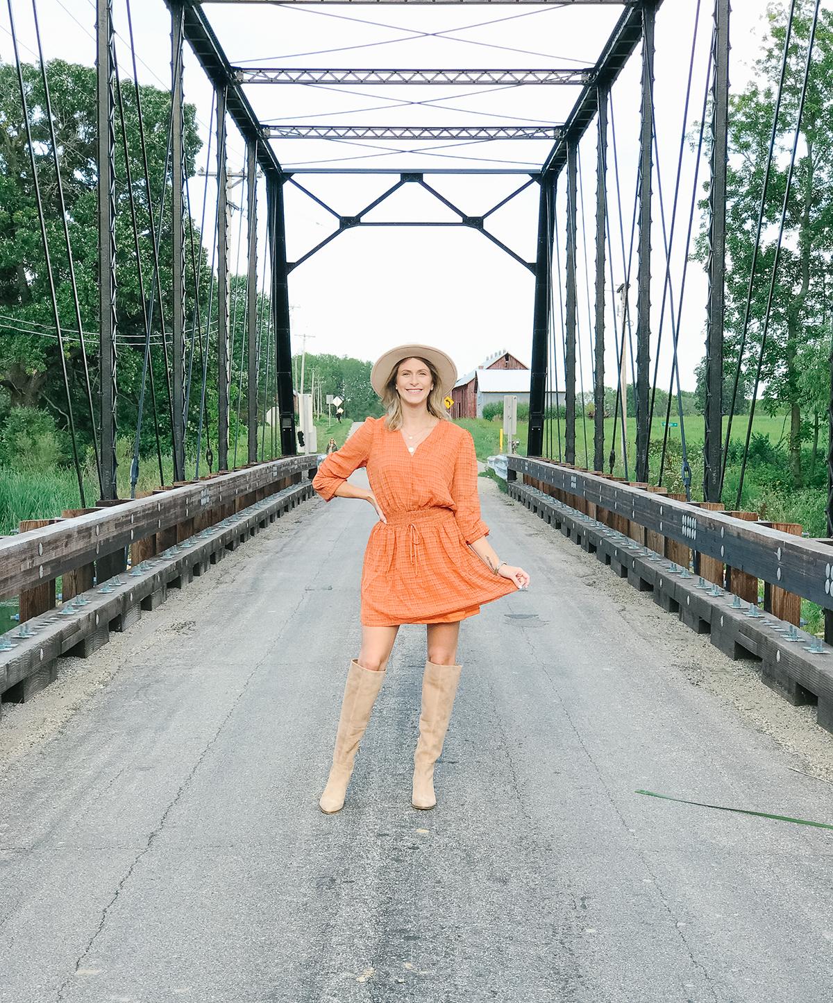 Orange Fall Dress