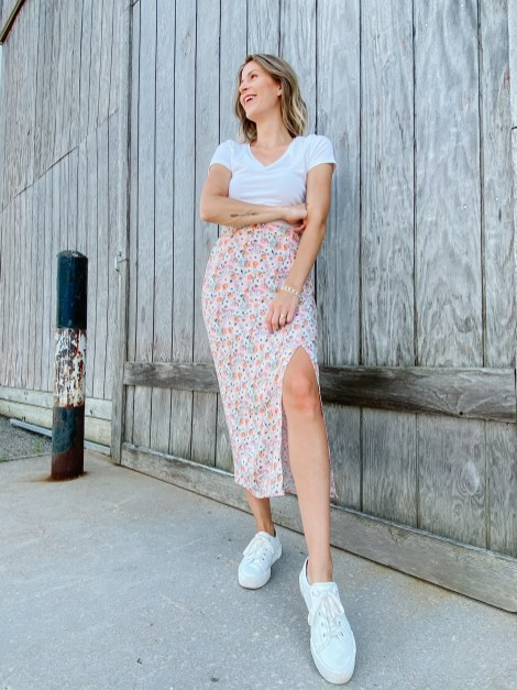 floral skirt style