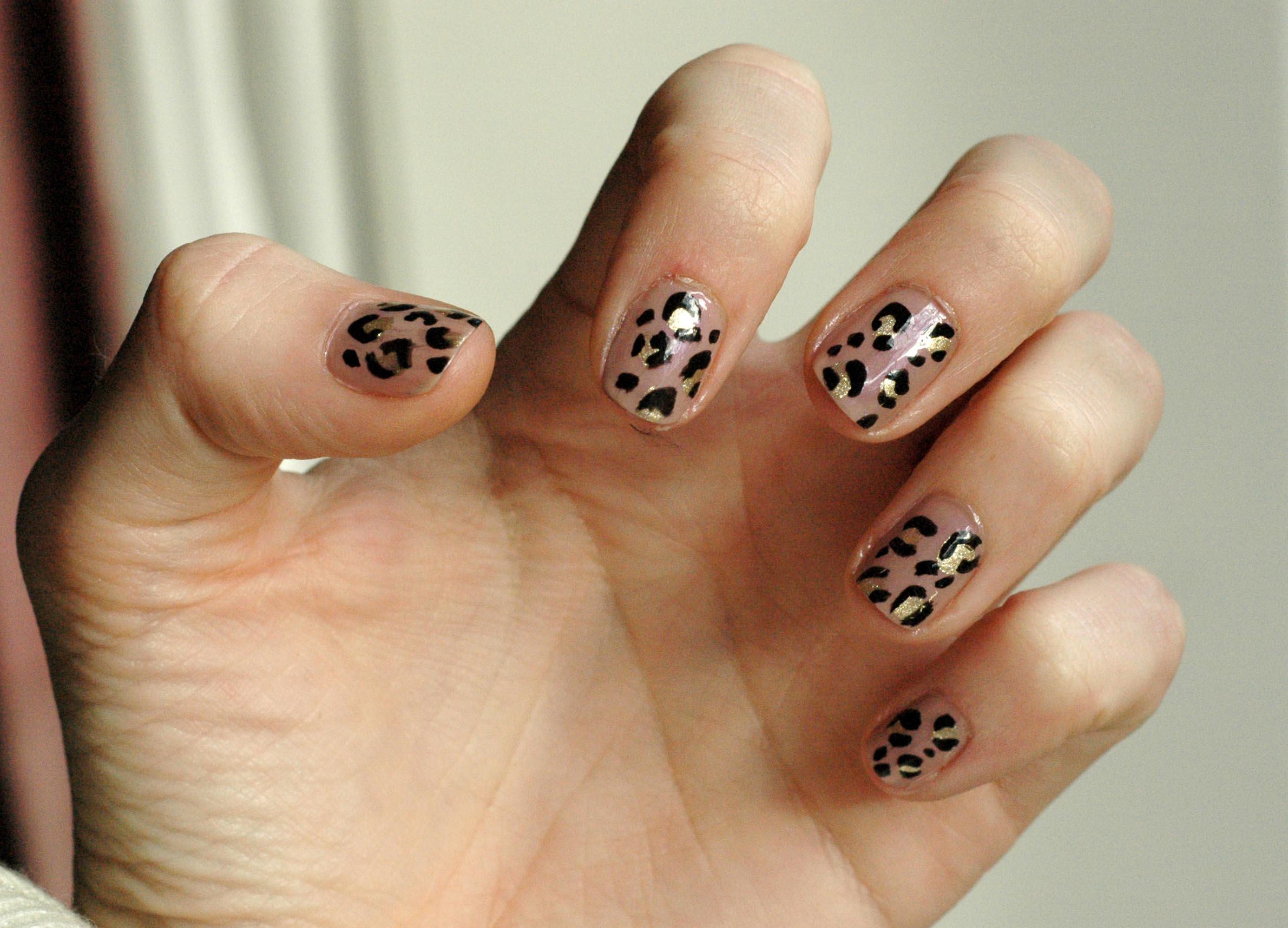 Nail Art Leopard Skin