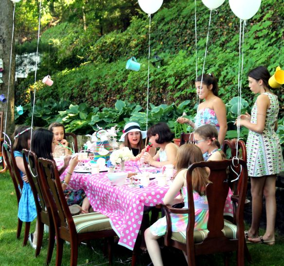 9 year old Tea party celebration 059
