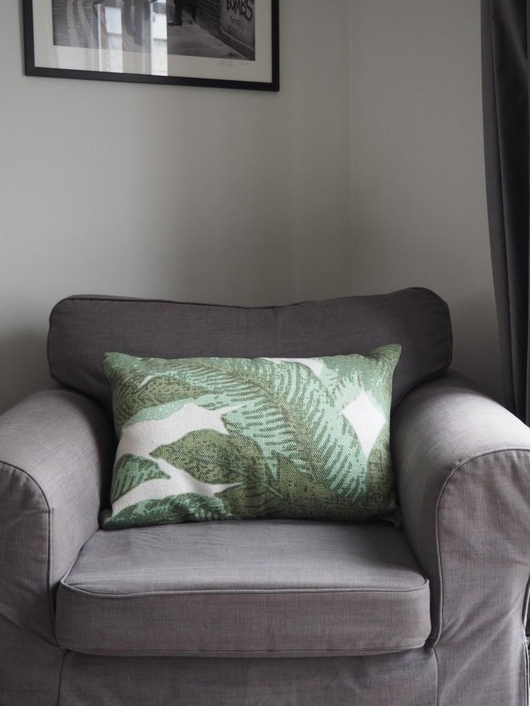 Chair, Ikea. Cushion, La Redoute