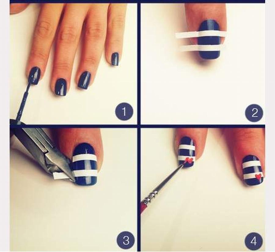 Stripes Design Nail Art
