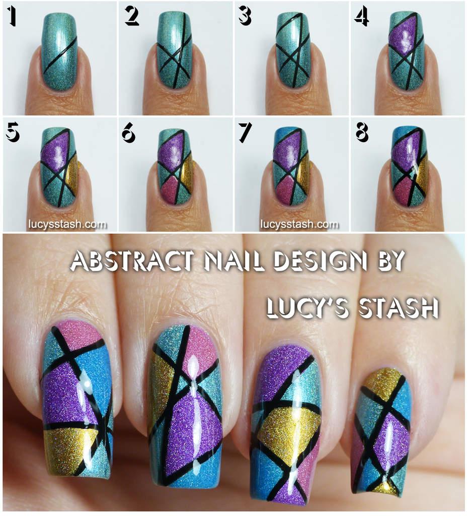 Nail Art Deer Design