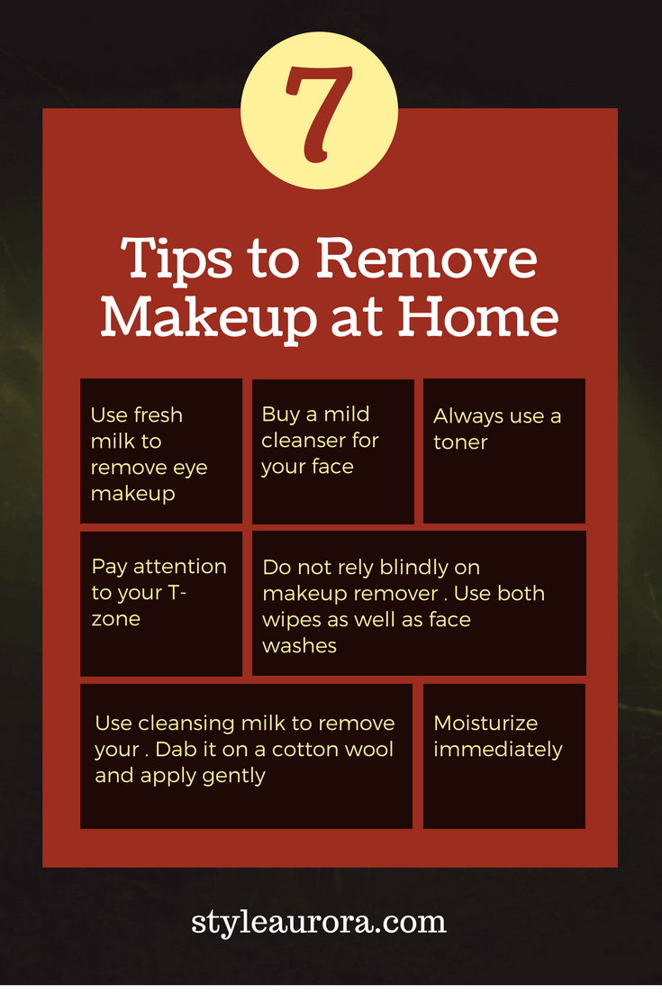 Tips on removing makeup at home