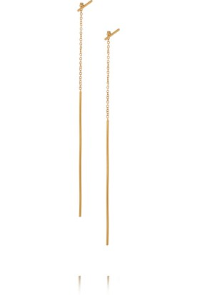 Gold-plated earrings, Chan Luu $63