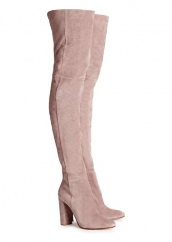 Suede thigh boots. Gianvito Rossi, $2,206