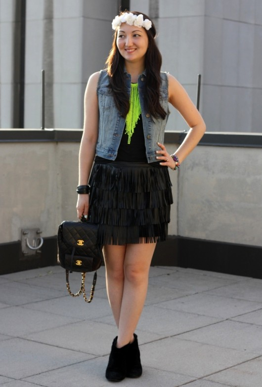 zara-fringe-skirt