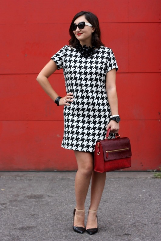 joe-fresh-houndstooth-dress
