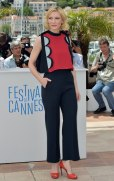 """Australian actress Cate Blanchett poses during a photocall for the animated film """"Dragon 2"""" at the 67th edition of the Cannes Film Festival in Cannes, southern France, on May 16, 2014. AFP PHOTO / BERTRAND LANGLOIS (Photo credit should read BERTRAND LANGLOIS/AFP/Getty Images)"""