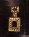 Detail of one of the many Chinese screens - looks like a Chanel no.5 bottle.