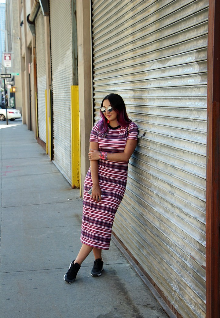 striped-knit-dress-topshop-pink-hair-2