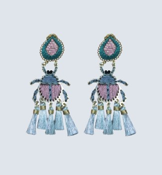 Mercedes Salazar Ascarabajo Rosa Petit earrings $225 CAD