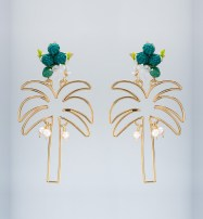 Mercedes Salazar Palma Dorada earrings $225 CAD