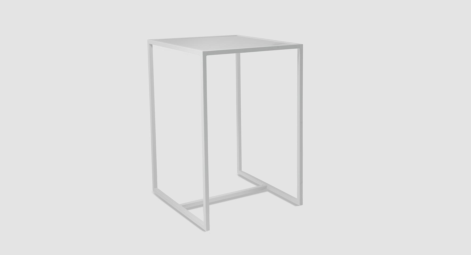 Frame Stool Table White