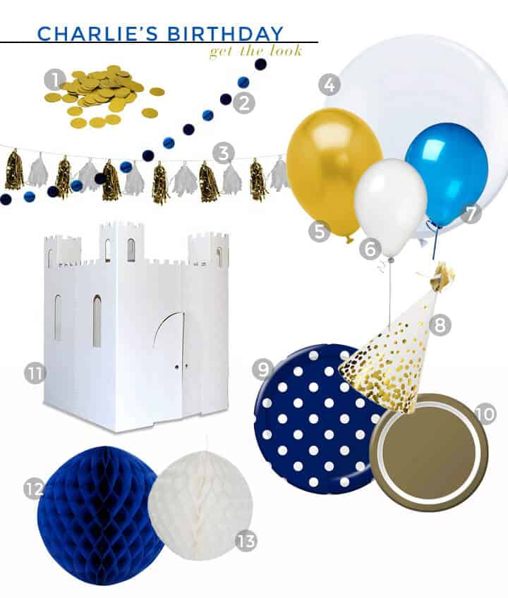 Charlies Second Bday_Decorations_Blue_Gold_White_Spiderman_Emily Henderson_Boys Birthday_Get the Look