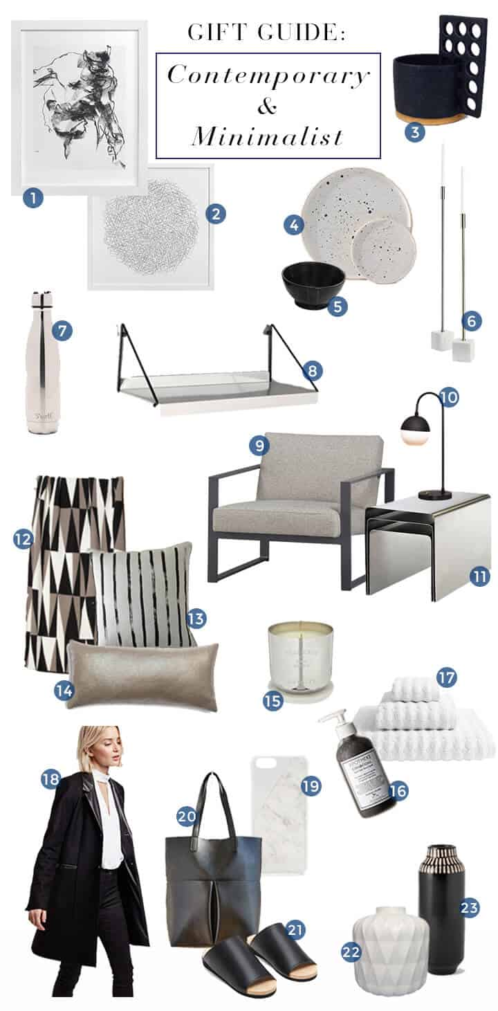 Contemporary_Minimalist_Style Guide_Gift Roundup_Modern_Sleek_Black_White_Chrome