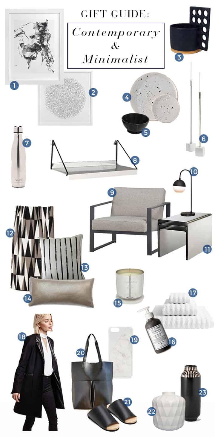 Contemporary_Minimalist_Style Guide_Gift Roundup_Modern_Sleek_Black_White_Chrome