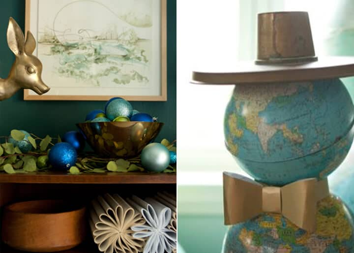 Secrets From A Stylist_Emily Henderson_Blue_Teal_Gold_Green_Holiday_Decorations7