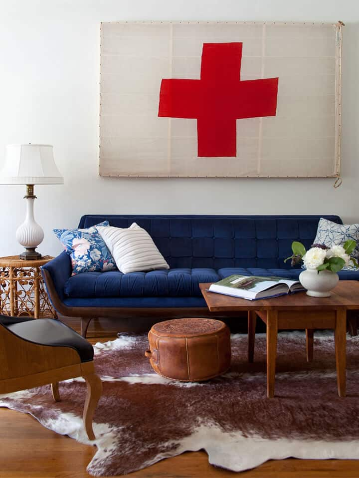 My Biggest Design Regrets_Emily Henderson Living Room_Couch_Blue Couch_Sofa_2