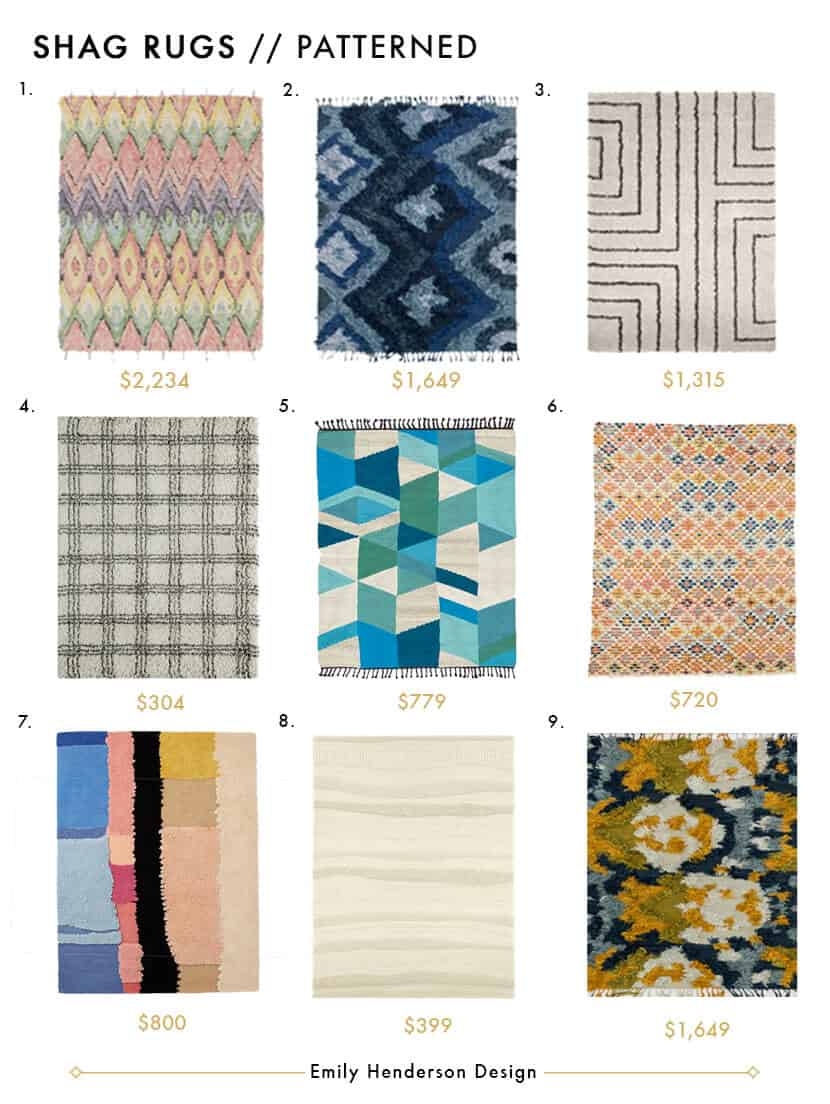 Awesome Shag Rugs - Style by Emily Henderson Patterned