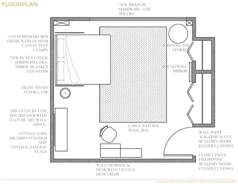 Boys Bedroom Floor Plan