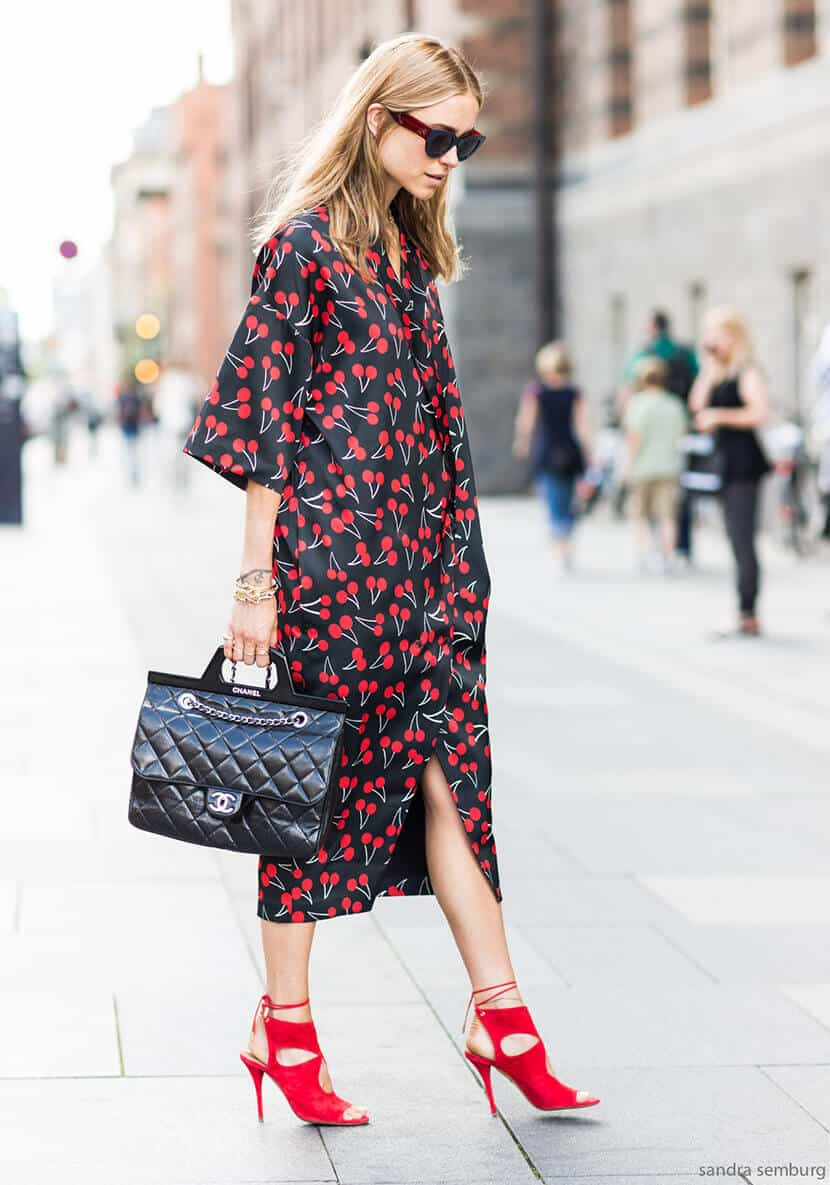 Cherry Dress Red Fashion Accent