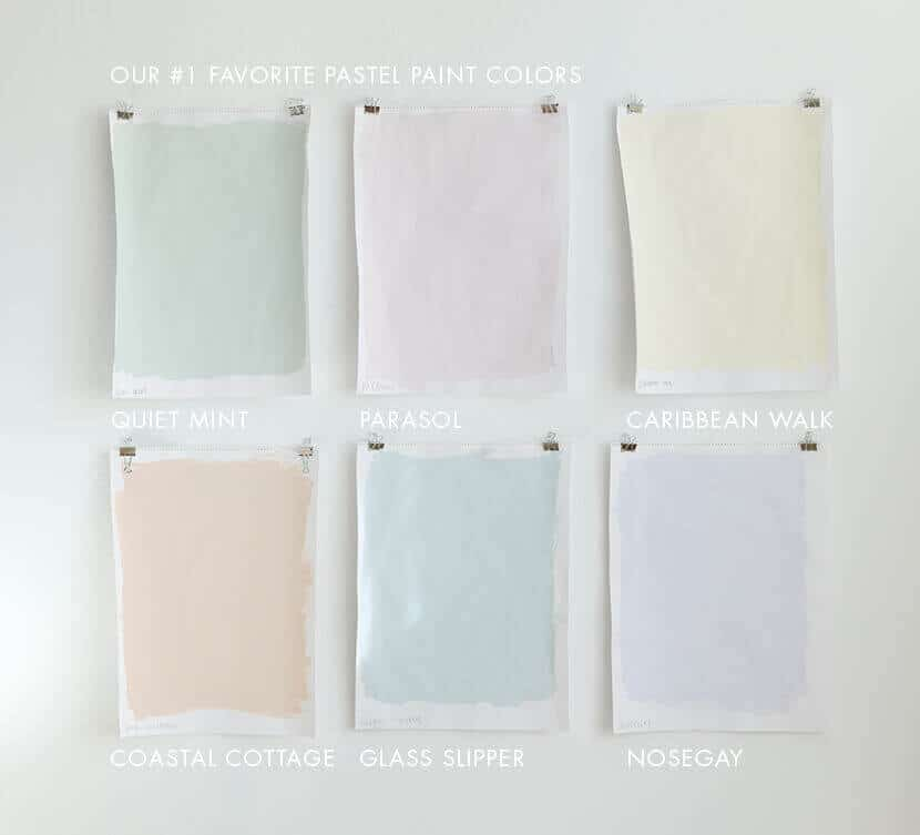 EMILY HENDERSONS FAVORITE PASTEL PAINT COLORS