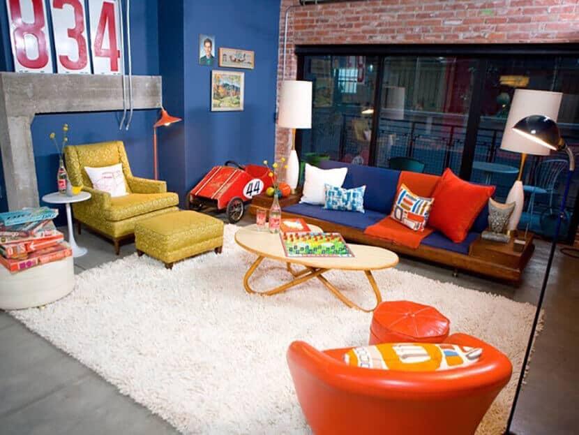 Emily Henderson Mod Bright Living Room
