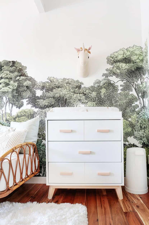 Emily Henderson Simple White Modern Dressing Table