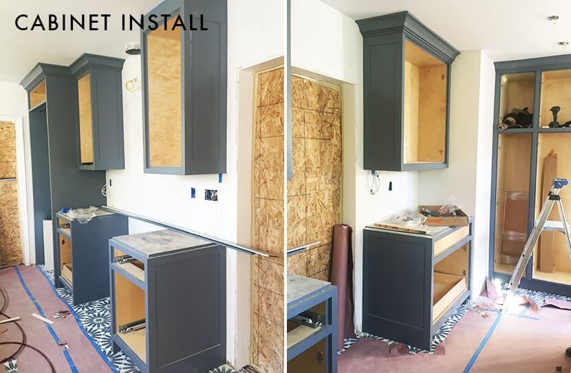 Nicole Lorey Emily Henderson Design Kitchen Cabinet Instal