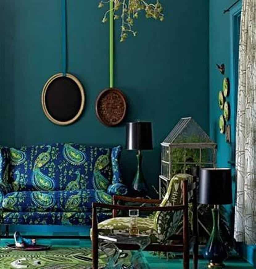 Color Trend Emerald and Teal Room Decor 1