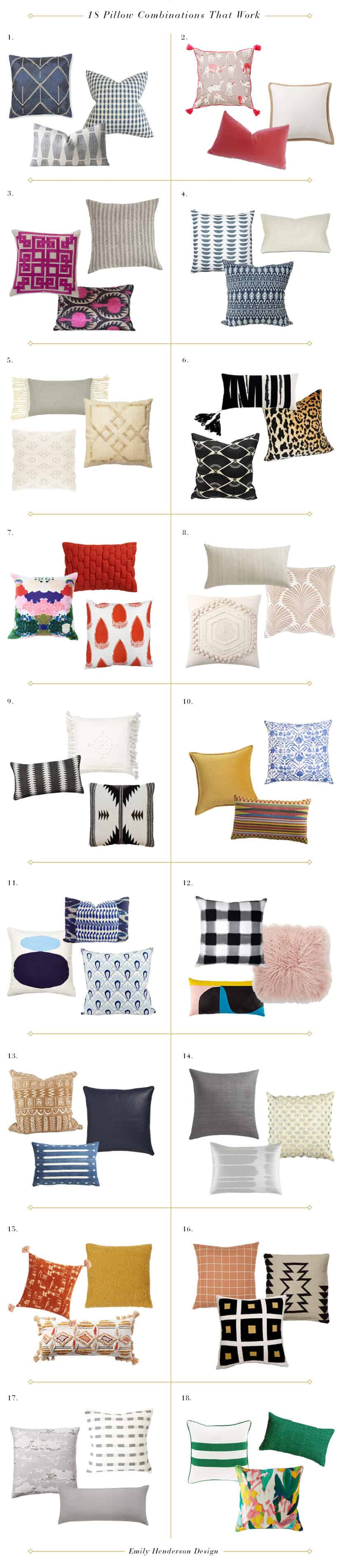 Emily Henderson Pillow Combinations That Work