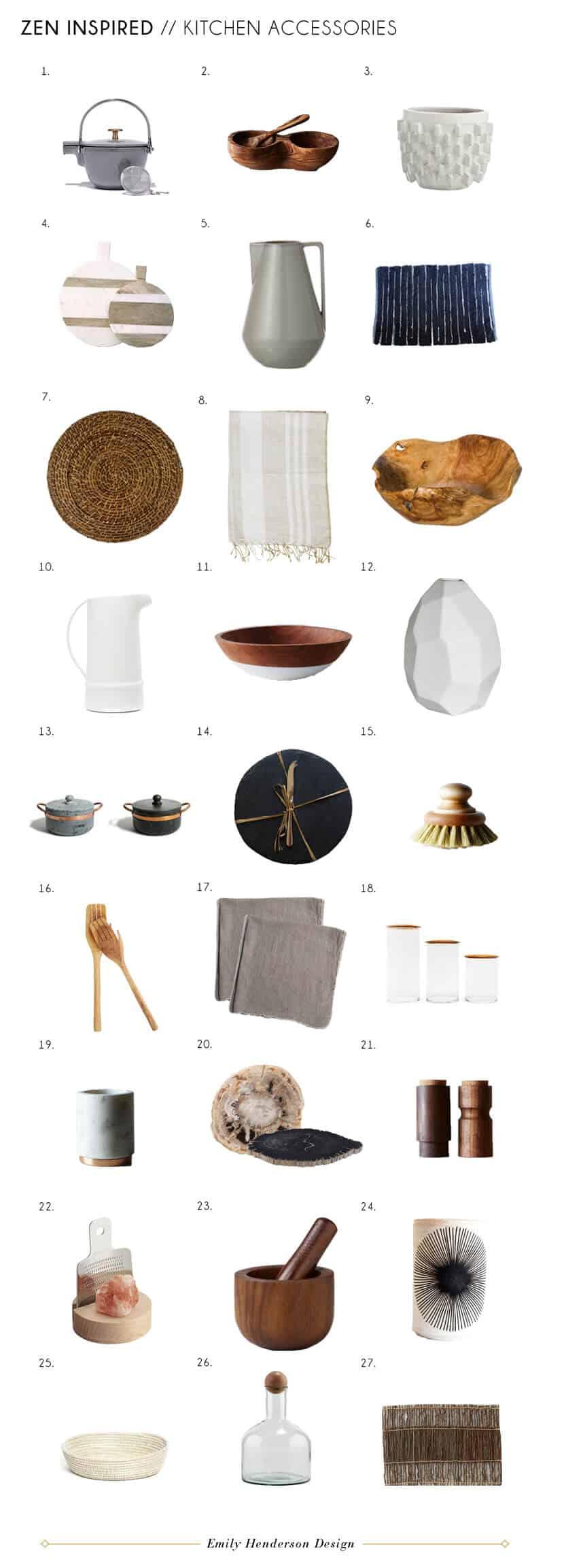 Zen Kitchen Accessories Furniture Minimal Wishbone Chair Indoor Plants Contemporary Modern Kitchen Design Accessories