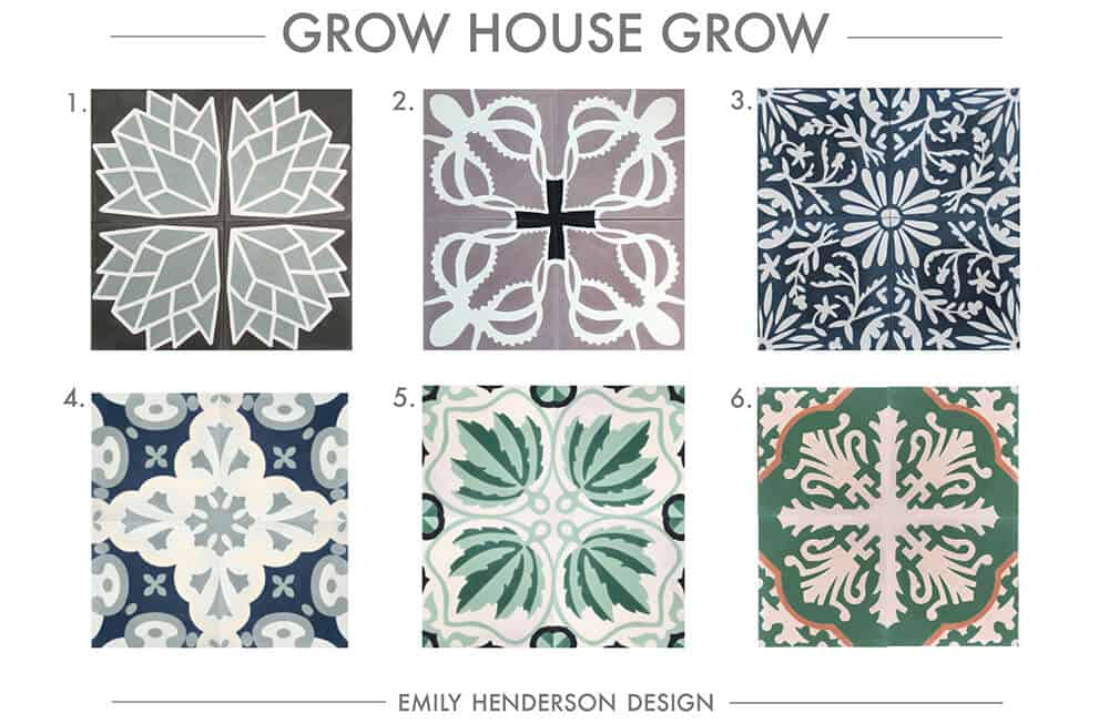 Cement Tile RoundUp Grow House Grow Patterned Tiles Emily Henderson